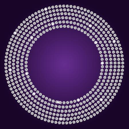 Abstract beautiful diamond background vector illustration Vector
