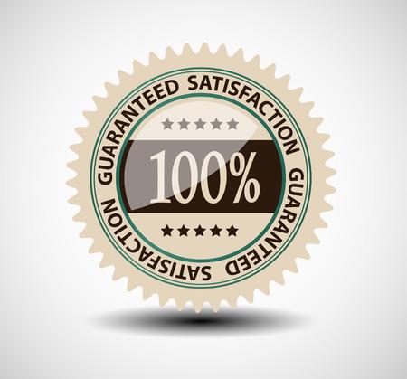 stamper: Satisfaction guaranteed label vector illustration