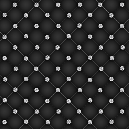 Luxury background with diamond buttons vector illustration Illustration