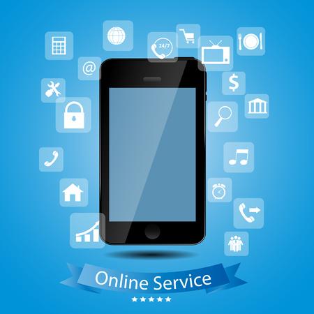Online service concept vector illustration Vector