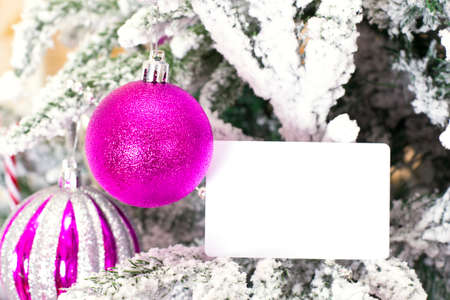 Christmas abstract background with card template photo