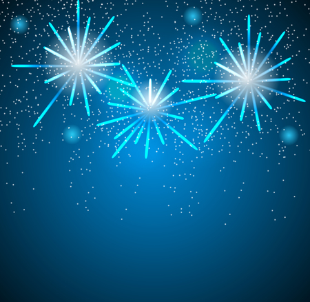 Glossy Fireworks Background Vector Illustration Vector
