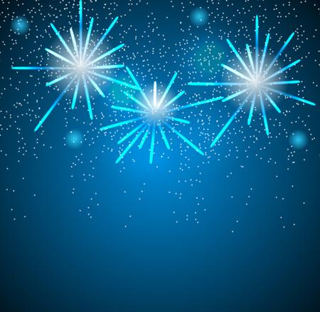 Glossy Fireworks Background Vector Illustration Illustration
