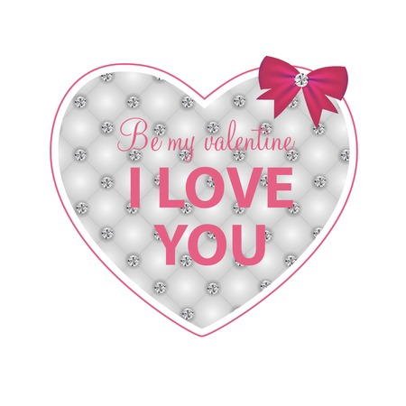 Happy Valentines Day Card with Heart. Vector Illustration Stock Vector - 24874281