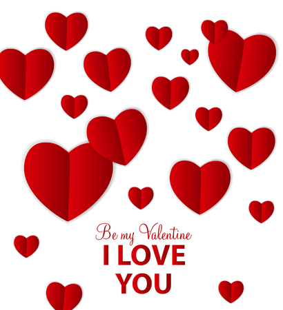 Happy Valentines Day Card with Heart. Vector Illustration Stock Vector - 24874283
