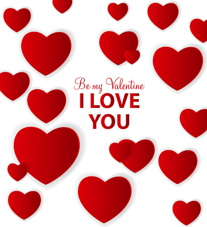 Happy Valentines Day card with heart. Vector illustration Stock Vector - 24874293