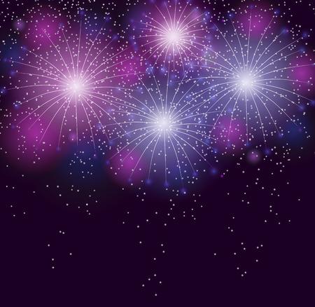 fawkes: Glossy Fireworks Background Vector Illustration Illustration