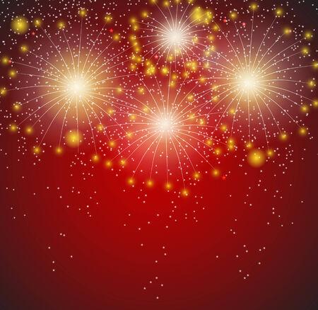 guy fawkes night: Fuochi d'artificio lucida sfondo illustrazione vettoriale