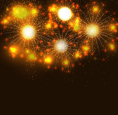 fawkes: Glossy Fireworks Background Vector Illustration Illustration
