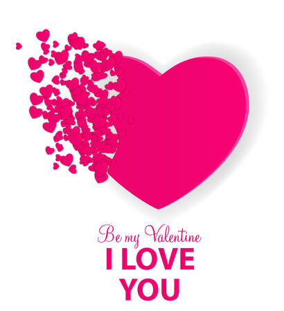 Happy Valentines Day Card with Heart. Vector Illustration Stock Vector - 24874319