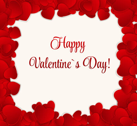 Happy Valentines Day Card with Heart. Stock Vector - 24991958