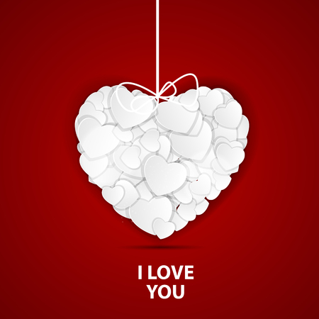 Happy Valentines Day Card with Heart. Vector Illustration Stock Vector - 24992019