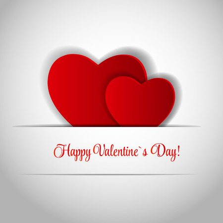 Happy Valentines Day Card with Heart. Vector Illustration Illustration