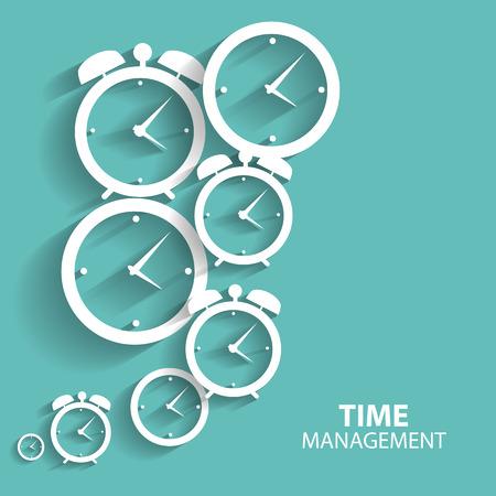 administración del tiempo: Modern momento plana Icon Vector Management para Web y aplicaciones móviles