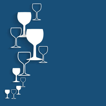 whisky bottle: illustration silhouette alcohol glasses Illustration