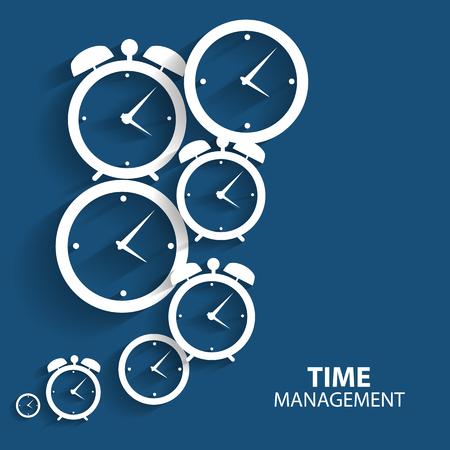 administraci�n del tiempo: Modern momento plana Icon Vector Management para Web y aplicaciones m�viles