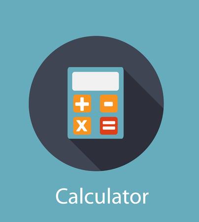 calculator: Calculator Flat Concept Icon Illustration