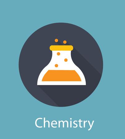 neutrons: Chemistry Flat Concept Icon Illustration