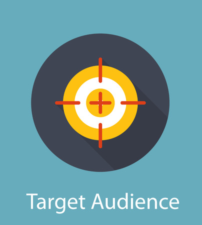Target Audience Flat Concept Icon Illustration Vector