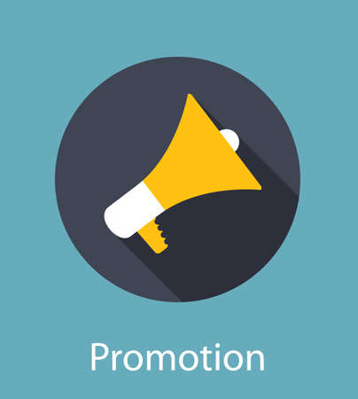 Promotion Flat Concept Icon Illustration Vector