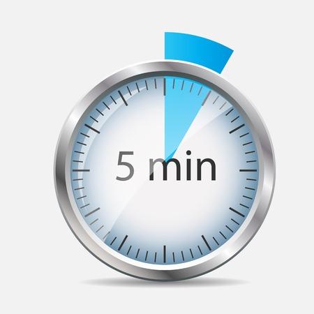Silver Watch Designation 5 Minutes Illustration