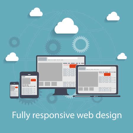 blog design: Responsive web design icon. Vector Illustration Illustration