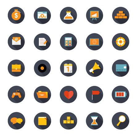arranging:  Set of Flat Icons Vector Illustration