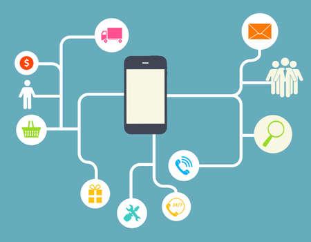 personal data: Cloud Computing Concept en diferentes dispositivos electr�nicos. Ilustraci�n vectorial Vectores