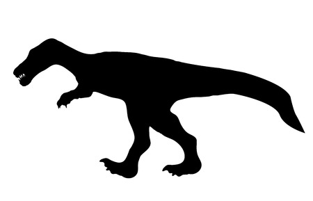 Silhouette Dinosaur. Black Vector Illustration. Vector