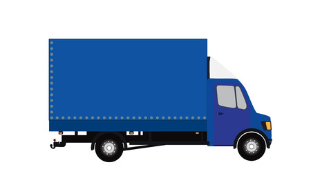 moving truck: Blue Small truck Illustration Illustration