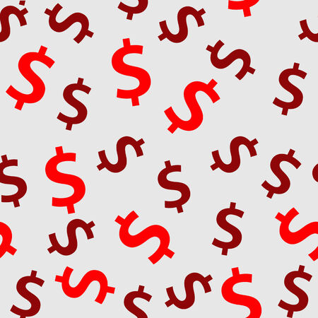 debt collection: Money sign seamless pattern background illustration