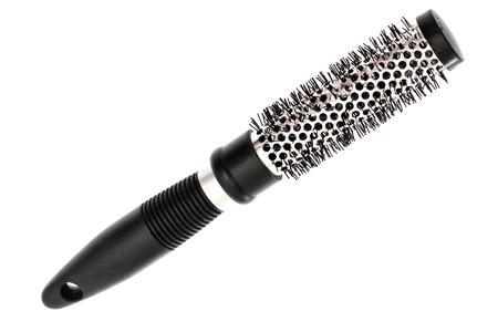 hair brush isolated on white  photo