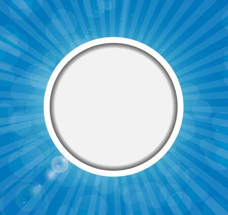 shiny background: Frame on Sunny Shiny Background Vector Illustration.
