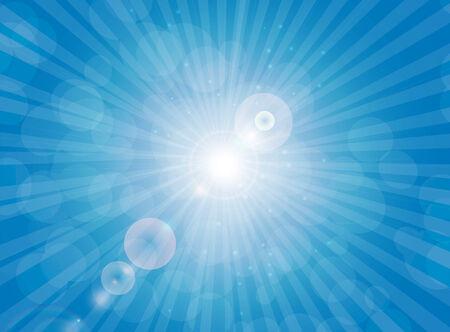 shiny background: Sunny Shiny Background Vector Illustration.