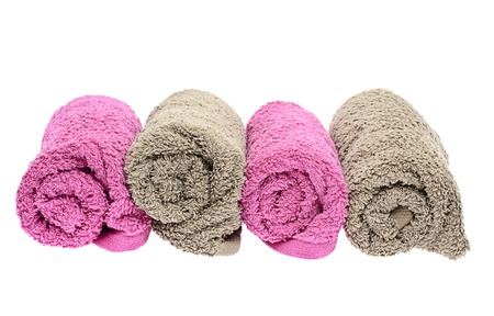 Towels Isolated on White Background photo