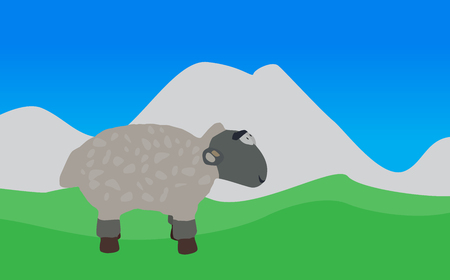 baa: Lamb Walks, Eats the Grass    Illustration