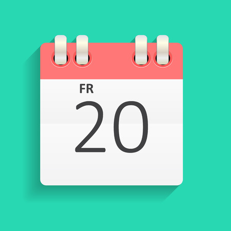 desk calendar: Flat Calendar Icon  Vector Illustration