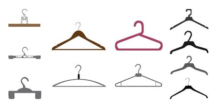 Set of Hanger  Isolated on White Background  Vector