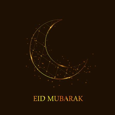 Moon Background for Muslim Community Festival Vector Illustratio Vector