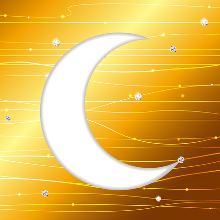 illustratio: Moon Background for Muslim Community Festival Vector Illustratio