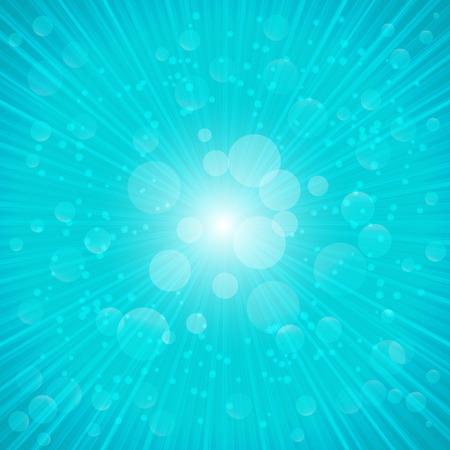 蓝色夏季背景矢量插图