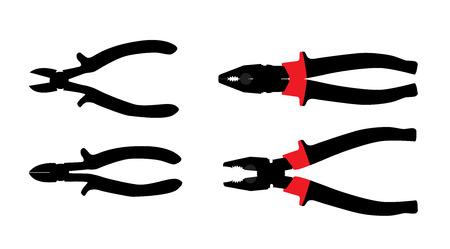 white bacground: Herramientas Alicates aislados en blanco ilustraci�n vectorial Bacground