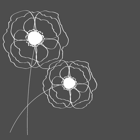 Poppies Flower Background Vector Illustration Vector