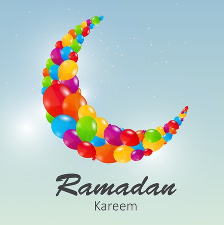 namaz: Moon Background for Muslim Community Festival Vector Illustratio
