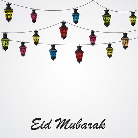 Background for Muslim Community Festival Vector Illustration Vector