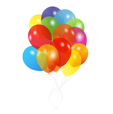 Colored Balloons, Vector Illustration Vector