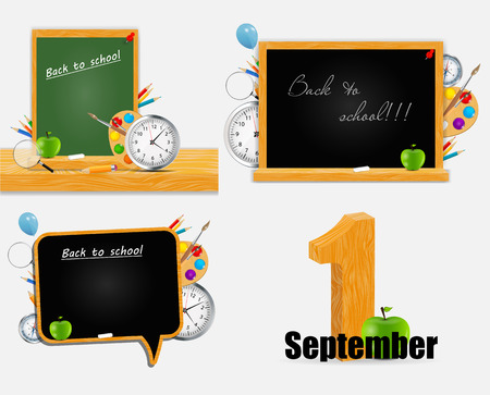 lecture hall: Back to School Vector Background  Illustration