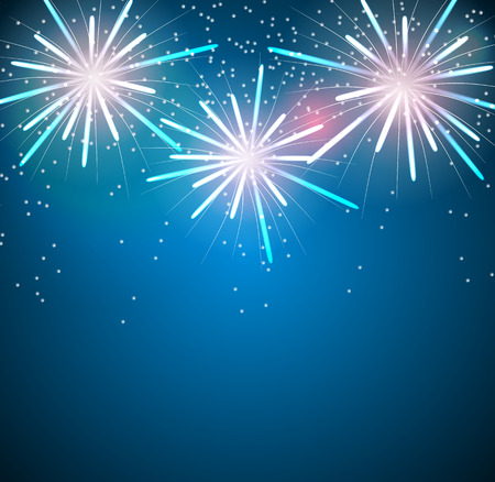 Glossy Fireworks Background Vector Illustration Vector
