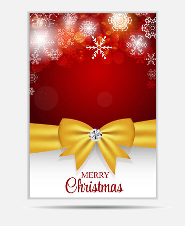 banner website: Kerst Sneeuwvlokken Website Banner en kaart achtergrond Vector I Stock Illustratie