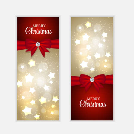 website backgrounds: Christmas Website Banner and Card Background Vector Illustration